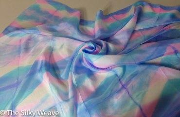 Shibori silk scarf 2