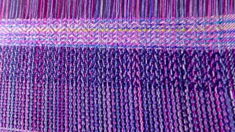 Wedding Bouquet purple and var silk weft 3